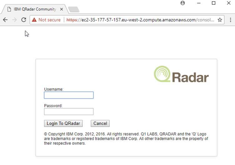 Setup QRadar CE on AWS